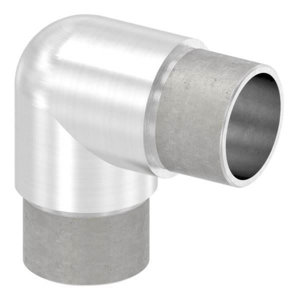 Eckbogen 90° eng, für Rundrohr Ø 33,7x2,0 mm V2A