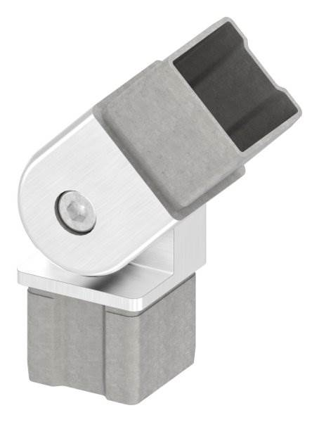 Ecke 90° flexibel, für Quadrahtrohr 40x40x2 mm V2A