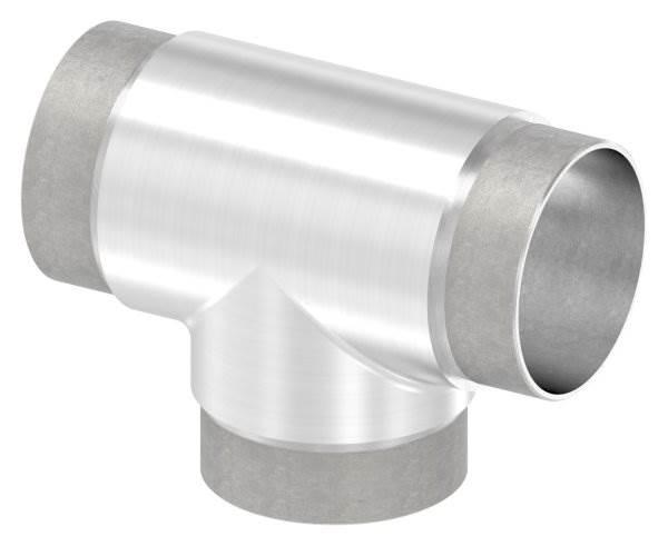 T-Stück mit gleichen Abgängen für Rundrohr Ø 60,3x2,0 mm V2A
