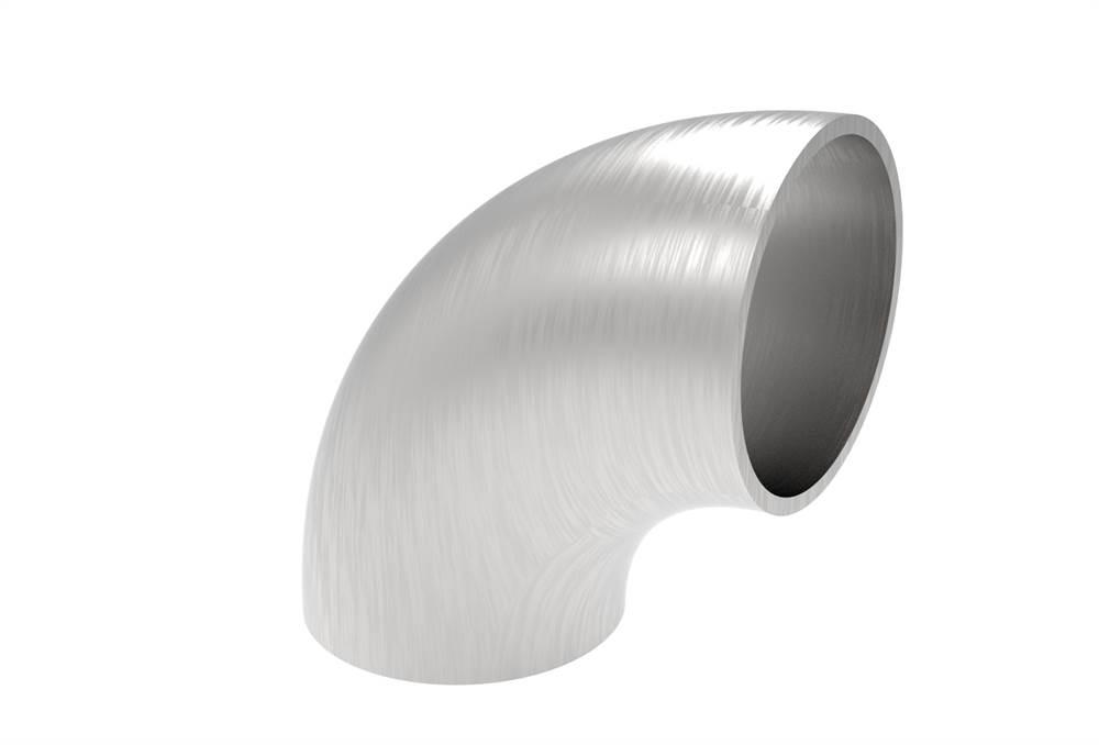 Bogen 90° | zum Schweißen | für Rundrohr: Ø 42,4 mm | V2A