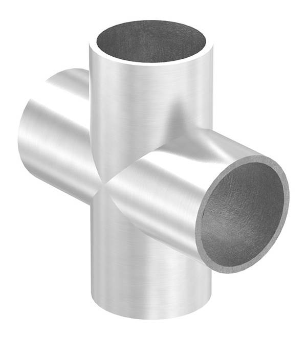 Kreuzstück   zum Schweißen   für Rundrohr Ø: 33,7 mm   V2A