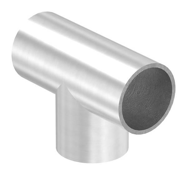 T-Stück   zum Schweißen   für Rundrohr: Ø 33,7 mm   V2A