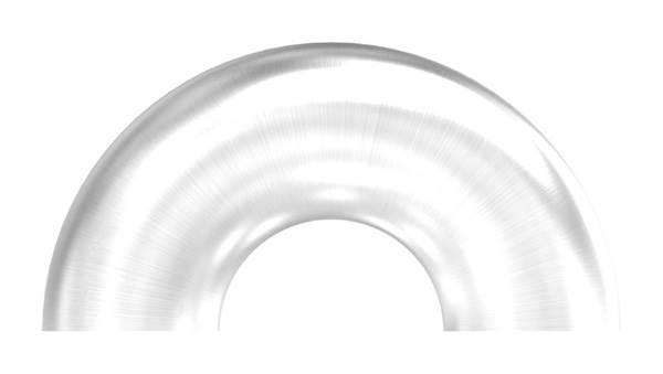 Bogen 180°   zum Schweißen   für Rundrohr: Ø 33,7 mm   V2A
