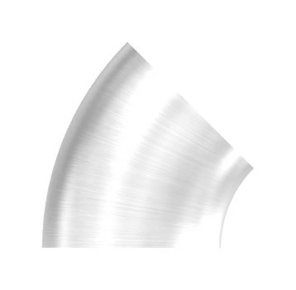Bogen 45°   zum Schweißen   für Rundrohr: Ø 33,7 mm   V2A