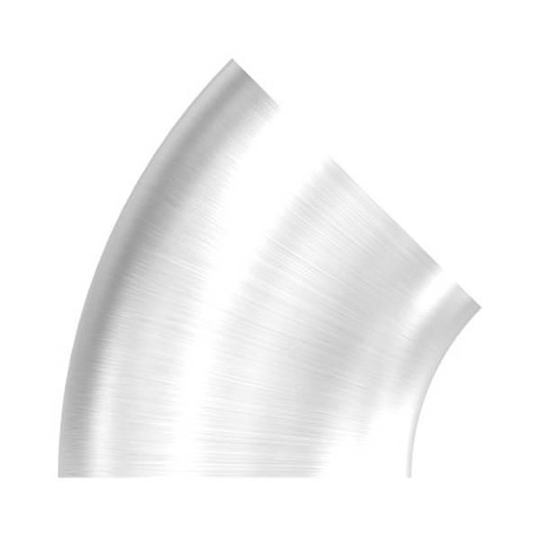 Bogen 45° | zum Schweißen | für Rundrohr: Ø 48,3 mm | V2A