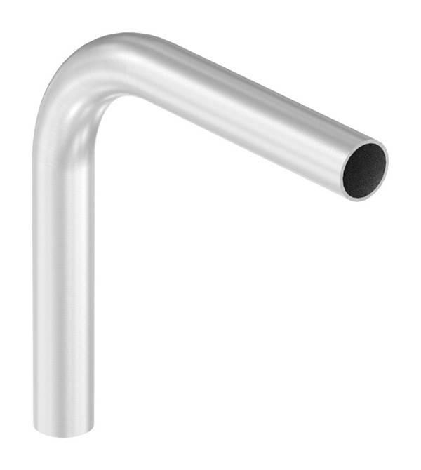 Bogen 90° | zum Schweißen | aus Rundrohr: Ø 42,4x2,6 mm | V2A