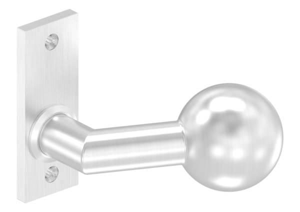 Türdrücker mit Kugel Ø 50 mm feststehend V2A links und rechts verwendbar