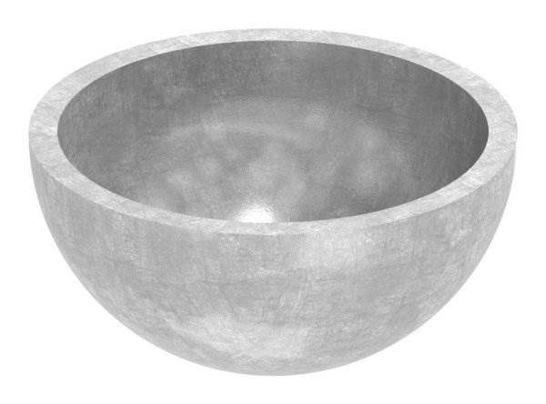 Halbhohlkugel Ø 33,7x2,0 mm V2A ungeschliffen