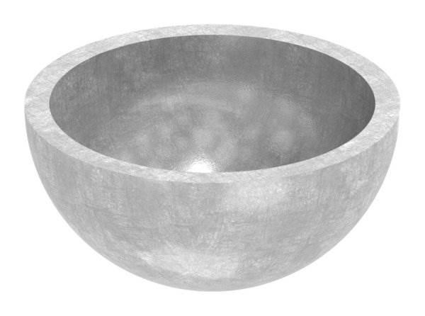 Halbhohlkugel Ø 30x2,0 mm V2A ungeschliffen