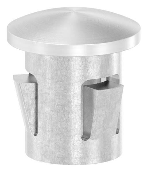 Stopfen leicht gewölbt V4A gegossen für Ø 16,0x1,0-2,0 mm