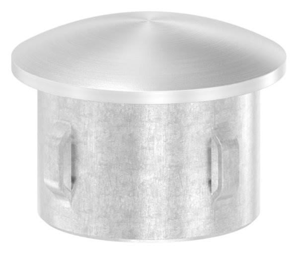Stopfen leicht gewölbt V4A gegossen für Ø 30,0x1,6-2,6 mm