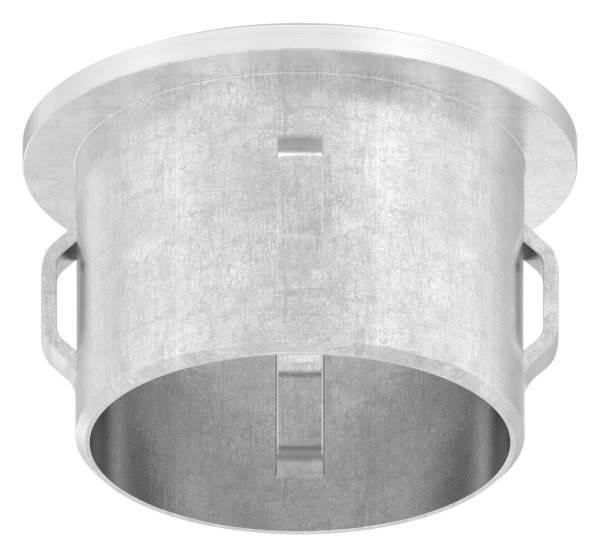 Stopfen leicht gewölbt V2A gegossen für Ø 30,0x1,6-2,6 mm