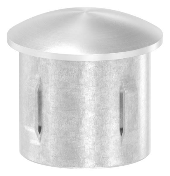 Stopfen leicht gewölbt V4A gegossen für Ø 33,7x2,0-2,6 mm