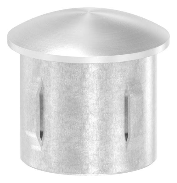 Stopfen leicht gewölbt V2A gegossen für Ø 33,7x2,0-2,6 mm