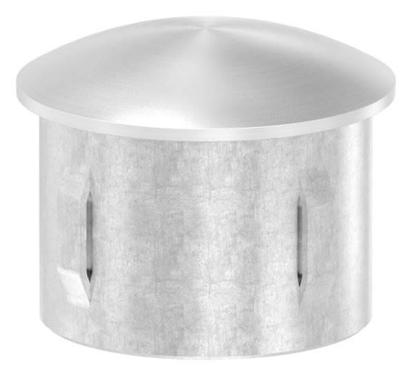 Stopfen leicht gewölbt V2A gegossen für Ø 42,4x2,0-2,6 mm