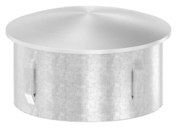 Stopfen leicht gewölbt V4A gegossen für Ø 60,3x2,0-2,6 mm