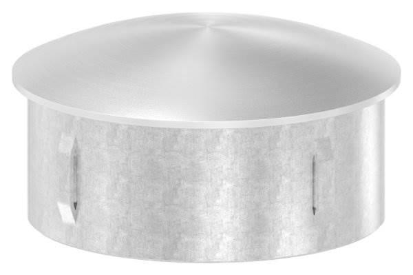 Stopfen leicht gewölbt V4A gegossen für Ø 76,1x2,0-2,6 mm