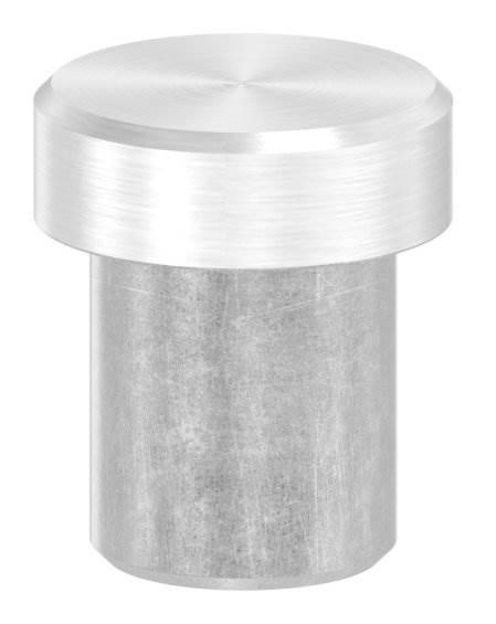 Stopfen flach V2A Vollmaterial für Ø 12,0x1,5 mm