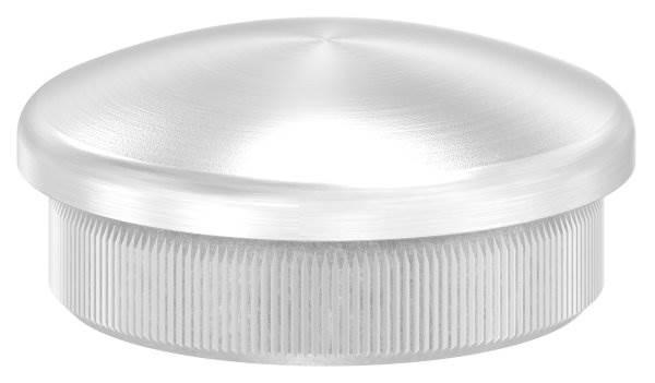 Stopfen leicht gewölbt V2A Vollmaterial für Ø 35,0x2,0 mm