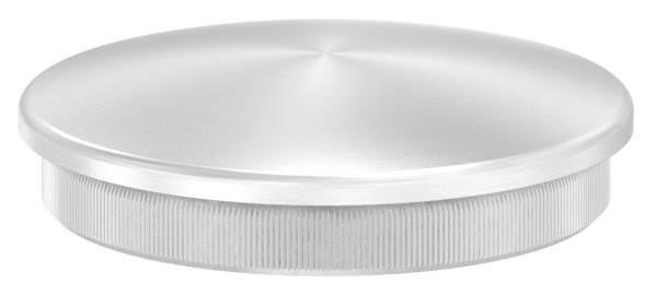 Stopfen leicht gewölbt für Ø 60,3x2,6 mm V2A Vollmaterial