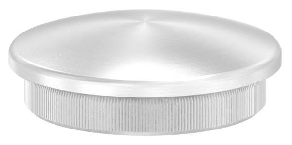 Stopfen leicht gewölbt für Ø 48,3x3,0 mm V2A Vollmaterial