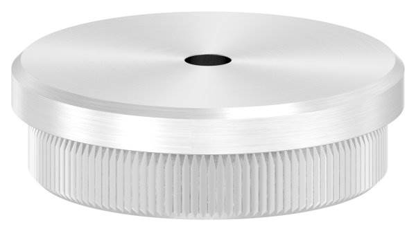 Stopfen flach V2A Vollmaterial für Ø 42,4x2,0 mm mit Entwässerungsbohrung 5 mm