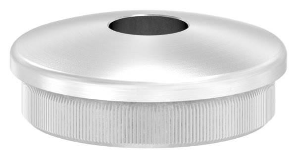 Stopfen leicht gewölbt V2A Vollmaterial für Ø 42,4x2,0 mm mit Bohrung 12,1 mm