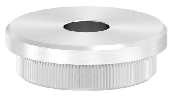 Stopfen flach V2A Vollmaterial für Ø 42,4x3,0 mm mit Bohrung 12,1 mm