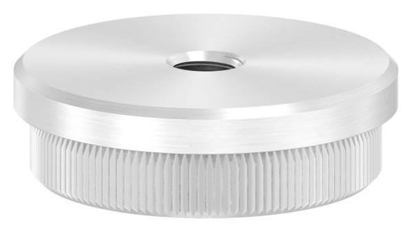Stopfen flach mit M8 für Ø 42,4x2,0 mm V2A Vollmaterial