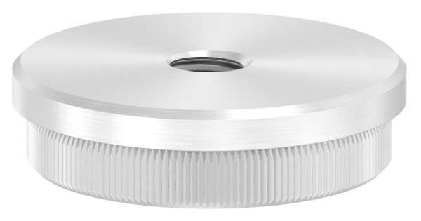 Stopfen flach mit M10 für Ø 48,3x2,0 mm V2A Vollmaterial
