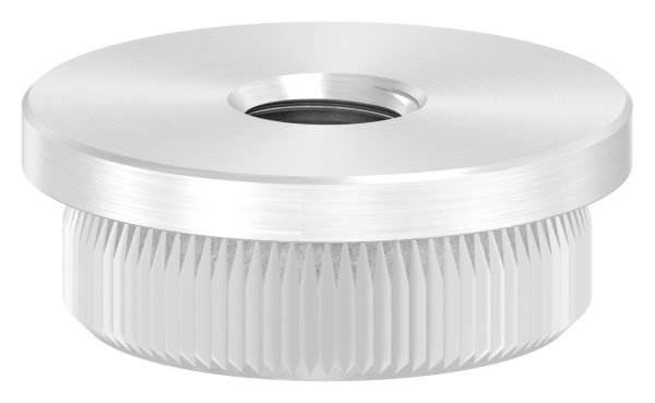 Stopfen flach mit M8 für Ø 26,9x2,0 mm V2A Vollmaterial