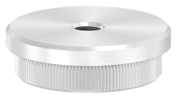 Stopfen flach V2A Vollmaterial mit M8 für Ø 42,4x2,6 mm