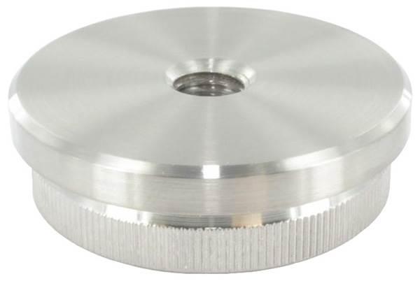 Stopfen flach V2A Vollmaterial mit M8 für Ø 48,3x2,6 mm