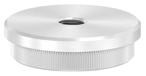 Stopfen flach V2A Vollmaterial mit M10 für Ø 48,3x2,5 mm