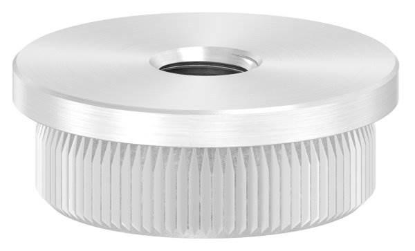 Stopfen flach mit M8 für Ø 30,0x2,0 mm V2A Vollmaterial