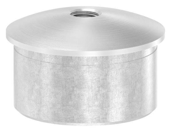 Stopfen leicht gewölbt V2A gegossen mit M8 für Ø 42,4x2,0 mm zum Einkleben