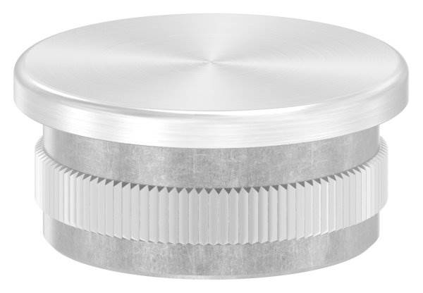 Stopfen flach V2A gegossen für Ø 33,7x2,0 mm