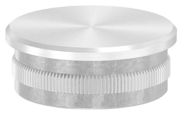 Stopfen flach V2A gegossen für Ø 42,4x1,8 mm