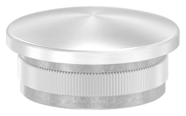 Stopfen leicht gewölbt V2A gegossen für Ø 42,4x3,0 mm