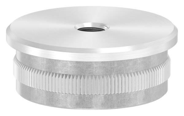 Stopfen flach V2A gegossen mit M8 für Ø 42,4x2,0 mm