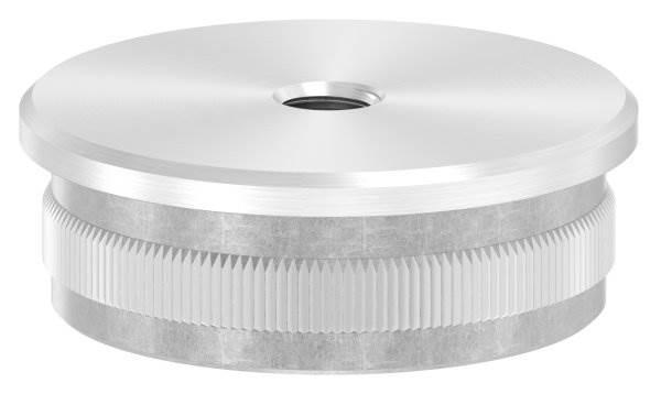 Stopfen flach V2A gegossen mit M8 für Ø 48,3x2,0 mm