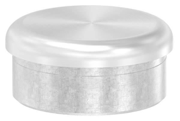Stopfen flach V2A gegossen zum Einkleben für Ø 48,3x2,0 mm