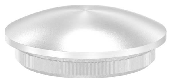 Stopfen leicht gewölbt V2A Vollmaterial für Ø 33,7x2,5 mm - dünne Ausführung