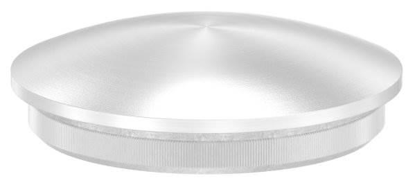 Stopfen leicht gewölbt V2A Vollmaterial für Ø 40,0x2,0 mm - dünne Ausführung