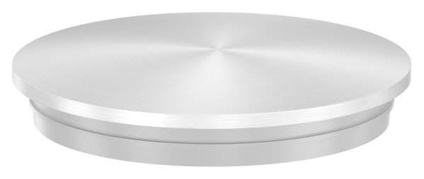 Stopfen leicht gewölbt V2A Vollmaterial für Ø 40,0x2,0 mm - dünne Ausführung verjüngt