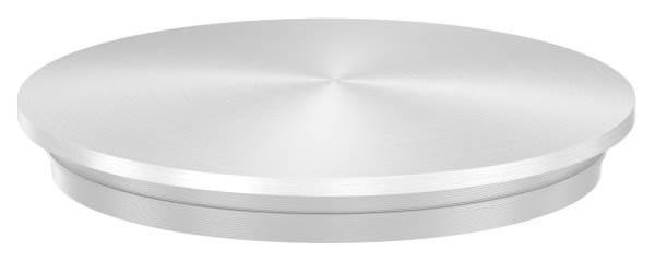 Stopfen leicht gewölbt V2A für Ø 48,3x2,6 mm