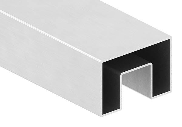 Rechteck-Nutrohr Ø 60 x 40 x 1,5 mm mit Nut 24x24 mm á 6 m