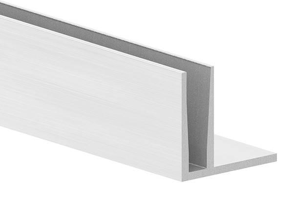 Alu-Profil   KOMPAKT   Länge: 6000 mm   aufgesetzte Montage   Aluminium