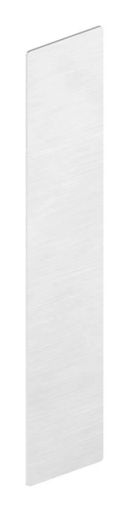 Endkappe | für Ganzglasgeländer | Maße: 227x46,5x1,5 mm | Aluminium