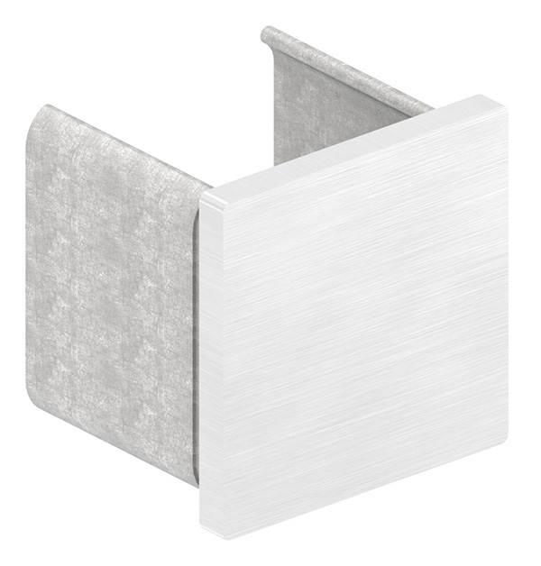 Endkappe | flache Ausführung | für Quadrat-Nutrohr: 40x40x1,5 mm | V2A